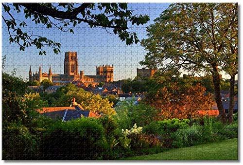 Fenglaile UK England Durham Cathedral Puzzle für Erwachsene Kinder 500 Teile Holzpuzzle Spiel für Geschenke Heimdekoration besondere Reise-Souvenirs
