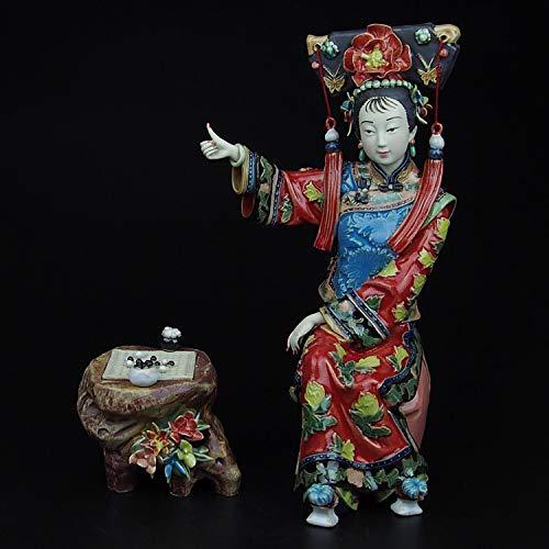 Modern Interieur Sculptuur Accenten Shiwan Pop Meester Boetiek Dames Oude Karakters Decoratie En Studie Tv-Kast Pure Handgemaakte Keramische Ambachten