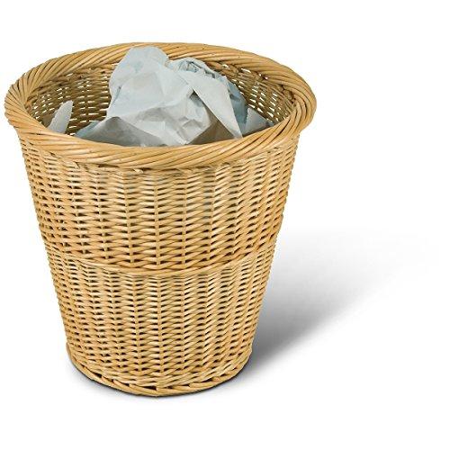 Papierkorb rund, hellbraun, Ø 35cm x H 34cm