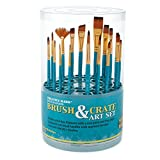 Artist Paintbrush Set – 18pc Professional Quality Short Handle Paint Brushes for Acrylic, Oil, Craft, Hobby...