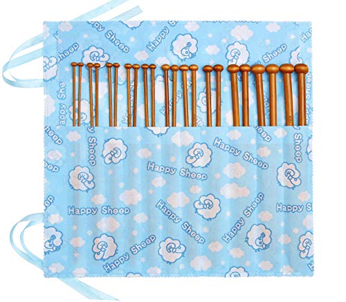 Stricknadeln Set Stricknadel Bambus Stricknadeln Holz Strickset Stricken für Anfänger Aufbewahrung 3,5 8 10