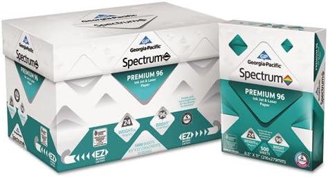 Georgia Pacific Spectrum Premium 96 Inkjet & Laser Paper, 24lb, 8-1/2 x 11, White, 500 Shts/Ream [Includes One Ream only]