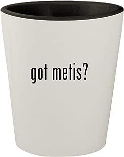 got metis? - White Outer & Black Inner Ceramic 1.5oz Shot Glass
