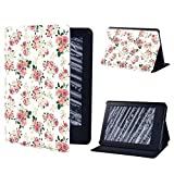 Funda De Cuero Para La Funda De La Tableta Kindle Kindle Paperwhite1 / 2/3/4 Para Kindle 10A Generación / Kindle 8A Generación Drop-Proof Y Impermeable Tablet Stand Cover, 7.Vintage Pink Flowe, Kin