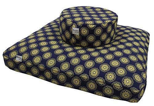 Zabuton - Cuscino da meditazione extra spesso, accessorio per meditazione, set da meditazione, 80 x 80 x 7 cm
