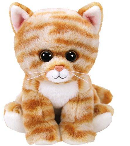 TY 42305 Gold Tabby Cat Cleo, Katze getigert 15cm, Beanie Babies, braun