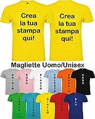 Idea Regalo - Maglietta Stampa Personalizzabile, Uomo/Donna, Vari Colori E Taglie (Colorata)