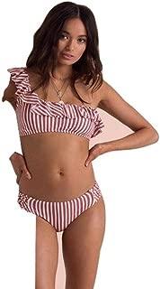 Womens Sincerely Jules Dos Palmas Ruffle Bikini Top, Multi, M