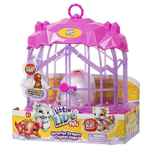 Little Live Pets 28648 Surprise Dragon Kristallkäfig, Mehrfarbig