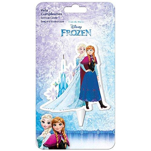 Vela cumpleaños 2D Elsa Frozen Disney