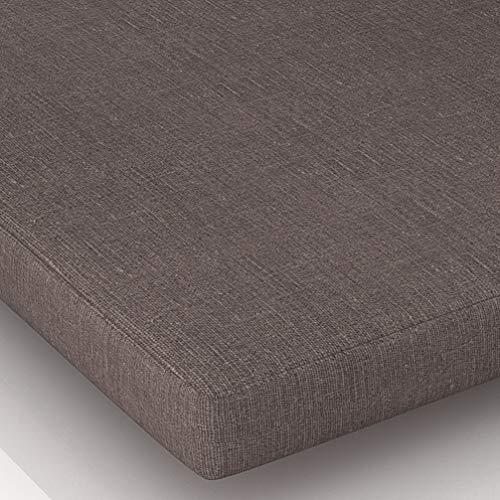 Cuscino per sedia a sdraio, cuscino per sedia da cucina, sala da pranzo, morbido e confortevole, per casa, ufficio (caffè, 45 x 45 x 3 cm)