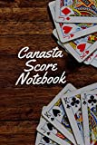 """Canasta Score Notebook: Game Record Keeper Book, Scorekeeping Pads, Scoring Sheet, Indoor Games recorder Notebook Gifts for Friends, Family, Canasta ... More. 6""""x 9"""", 120 pages. (Canasta Score Logs)"""