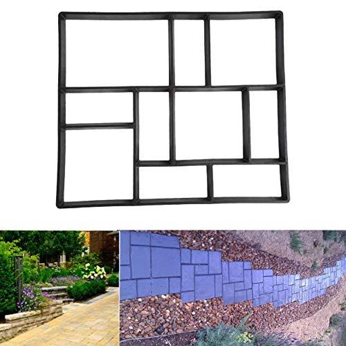 D.I.Y Betonform Pflasterform Schalungsform Betonpflaster mit 10 Kammern für Garten Gehweg (60 x 50 x 5cm)
