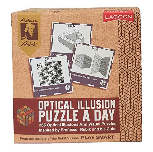 Lagoon Group- Rubik Optical Illusion A Day Deskblock Blocco Ottico, Multicolore, 9036