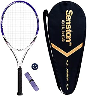Senston 成人用 トレーニング用 硬式テニスラケット レジャー用 一体成形 テニス セット 27インチ