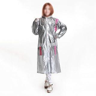 WZHZJ Women's Trench Coat Long Red Silver Thick Super Big Trench Rain Coat Travel Winter Camping Rain Poncho Raincoat Woma...
