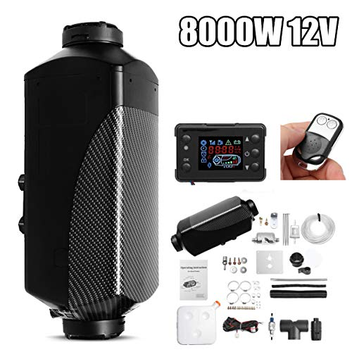 Best Deals! QWERTOUY Car Heater 8KW 12V Air Diesels Heater Parking Heater with Remote Control LCD Mo...