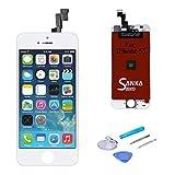Sanka Ecran LCD pour iPhone 5S, Retina Tactile Écran Vitre Display Digitizer Kit de Réparation...