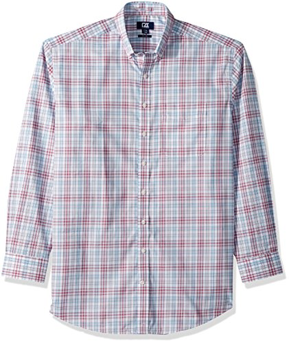 Cutter & Buck Herren Medium and Check Easy Care Collared Shirts Button Down Hemd, Virtuelle Charlie Plaid, Mittel
