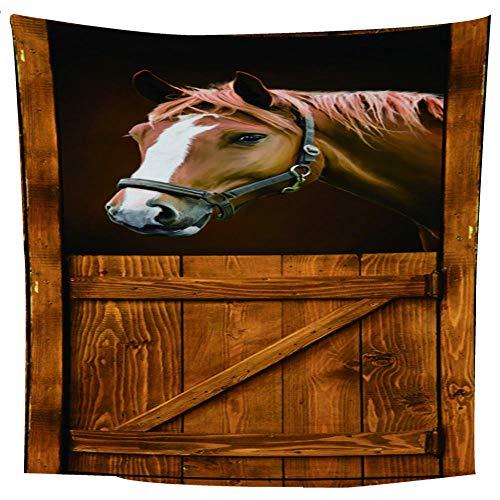 MRQXDP Paard bruin eten voedsel, slaapkamer woonkamer decoratie wandtapijt strand handdoek sjaal