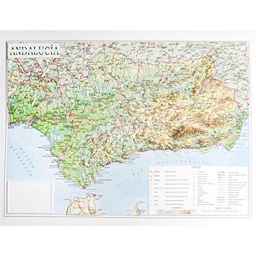 Mapa en relieve de Andalucía: Escala 1:1.200.000