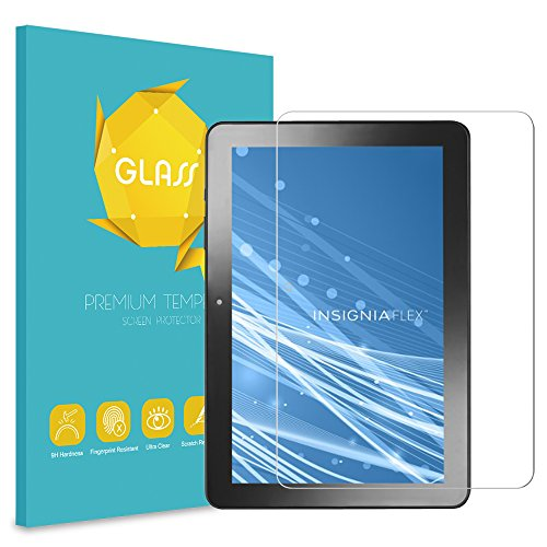 Insignia 10.1 Inch Tablet NS-P10A7100 / NS-P10A8100 Tempered Glass Screen Protector - Fintie [Scratch Resistant] Premium HD Clear [9H Hardness] for Insignia Flex NS-P10A7100 / NS-P10A8100