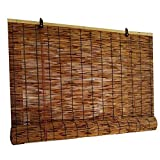 CXF Bamboo Venetian Blinds, Shade Reed Straw Blind, Vintage Curtains, Oriental Furniture, Easy to Install, Multiple Sizes (36x72in)