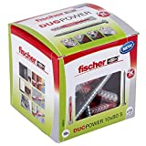 fischer Duopower 10X80 S Diy/ (Caja Brico de 10 Uds), 538257, gris, Set Piezas