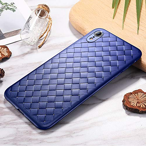 Shockproof LIJM Slim Weave Style TPU Soft Case For IPhone XR (zwart) Decoratie (Color : Blue)