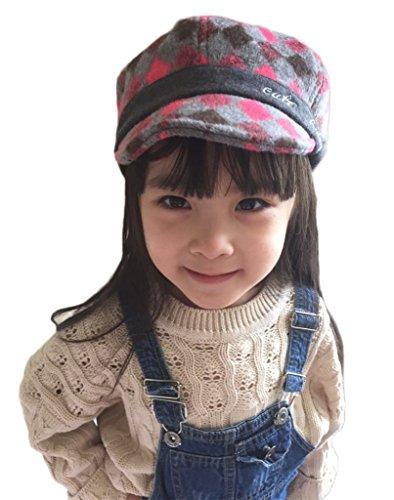Bigood Enfant Casquette Visière Unisexe Chapeau de Béret Motif de Outdoor de Soleil Rose