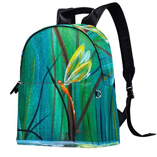 Dancing with Dragonflies Backpack Casual Daypack College School Computer Bookbag Travel Bag