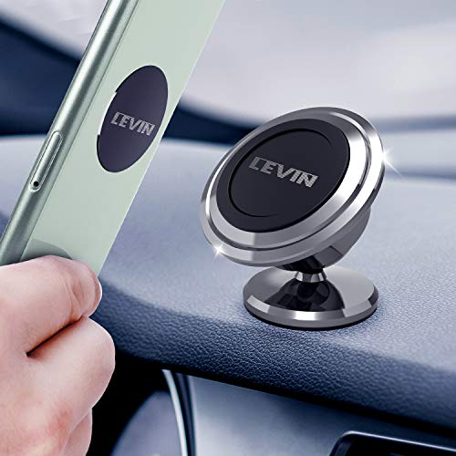 Universal Magnetic Phone Car Mount - LEVIN 360°Rotation Magnetic Cell Phone Holder for Car GPS Compatible with Phone 11 Pro Xs Max X XR Samsung Note 10 9 S10 S9 Plus and Tablets Under 13 Inches