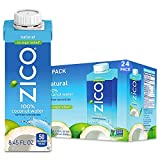 ZICO Premium Natural Coconut Water Drinks, No Sugar Added Gluten Free, Pack of 24, 202.8 Fl Oz