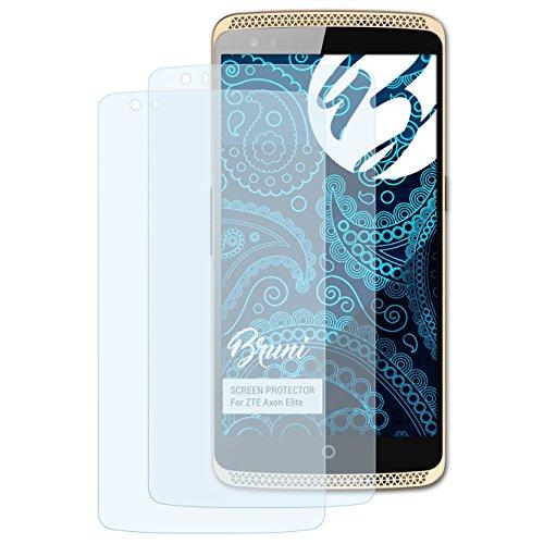 Bruni Schutzfolie kompatibel mit ZTE Axon Elite Folie, glasklare Bildschirmschutzfolie (2X)