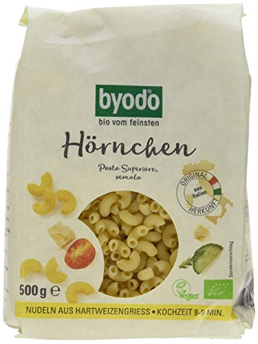Byodo Hörnchen hell, 6er Pack (6 x 500 g Packung) - Bio