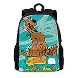 Zaino Scooby Doo Laptop Escursionismo Daypack Bookbag College Schoolbag Nero per Unisex