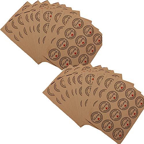 yuezhi sticker label sticker ronde retro design sticker Home Label handgemaakt bedankt cadeau voor bruiloft envelop kaart DIY geschenkverpakking