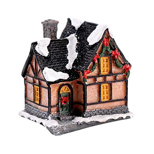 Yardwe 4 Piezas de iluminación DIY casa de Navidad casa de Resina Modelo de Pueblo Figuras inodoros Accesorios de...