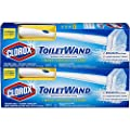 Clorox ToiletWand Disposable Toilet Cleaning System - 2 ToiletWands, 2 Storage Caddies and 12 Disinfecting ToiletWand Refill Heads