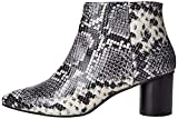 find. Leather Round Heel Point botines Multicolore Black and White Snake Effect), 36 EU