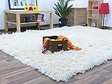 Flokati Teppich Qualität 1500 natur Kult Shaggy Teppich Hochflor Langflor 100% Schurwolle