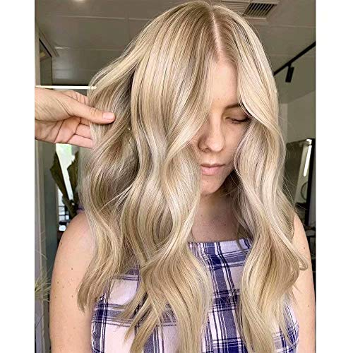 Easyouth Brazilian Frontal Lace Wig Human Hair 22zoll Color 27P613 Honigblond Mixed Bleach Blonde Lace Front Straight Wig Remy Menschliches Haar