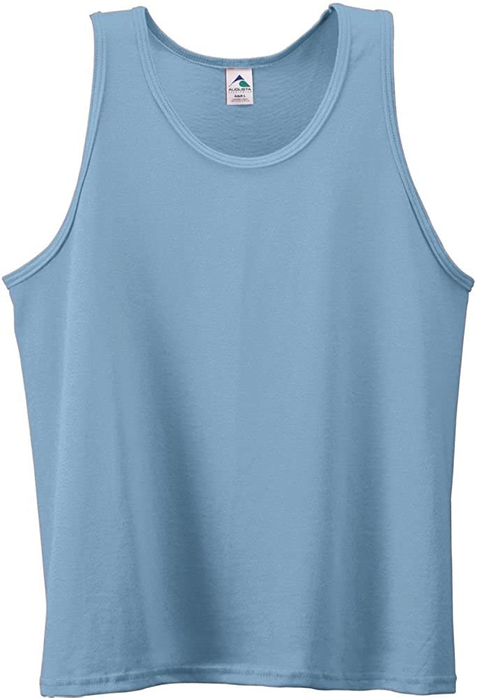 Youth Poly/Cotton Athletic Tank-LIGHT BLUE