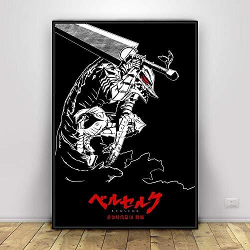 zxddzl Anime Art Seda Cartel decoración de la Pared de impresión 28 40 * 75 cm