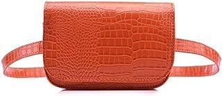 Women's Mini Waist Bag Fanny Packs Crocodile Leather Cell Phone Pocket