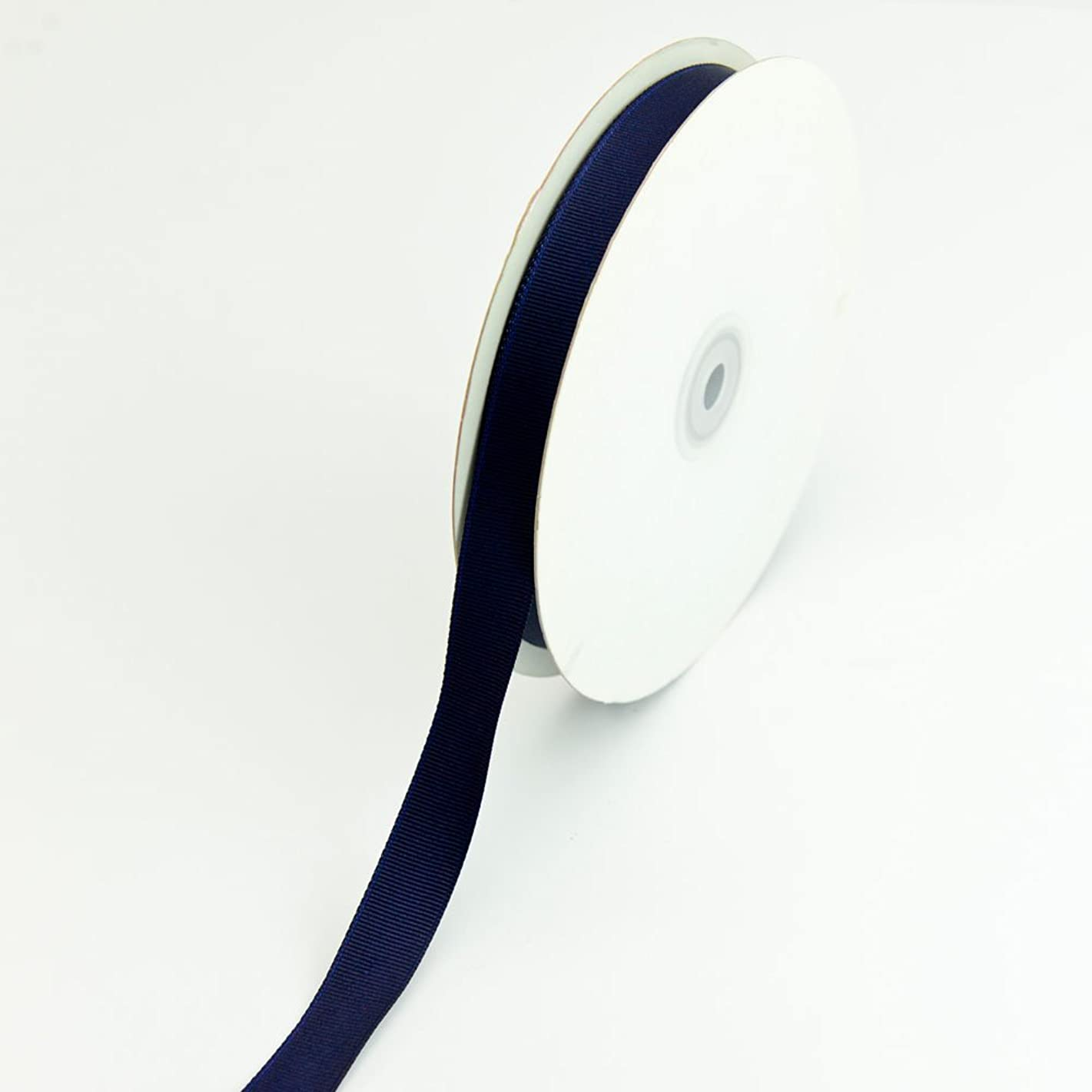 Creative Ideas 50-Yard Solid Grosgrain Ribbon, 5/8-Inch, Navy Blue