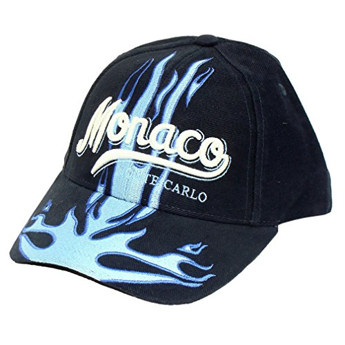 Souvenirs de France - Casquette Flammes Monaco - Taille réglable - Couleur : Bleu marine