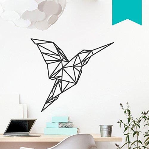 WANDKINGS Wandtattoo - Origami-Style Kolibri - 50 x 44 cm - Mint - Wähle aus 5 Größen & 35 Farben