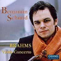 ブラームス:ヴァイオリン協奏曲/ピアノ三重奏曲第3番(シュミット)