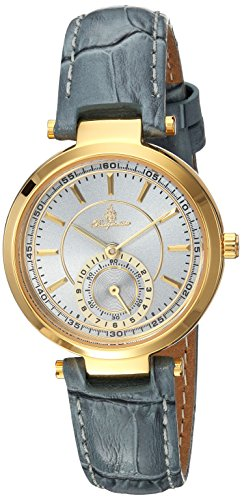 Burgmeister Armbanduhr für Damen mit Analog Anzeige, Quarz-Uhr und Lederarmband - Wasserdichte Damenuhr mit zeitlosem, schickem Design - klassische, elegante Uhr für Frauen - BM336-286 Celina